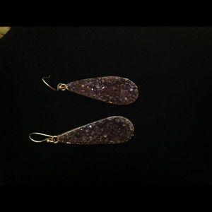 Amethyst Druze earrings